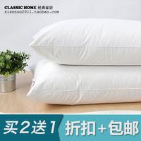 100% cotton 1350g goose feather pillow neck health sleeping,48*74cm
