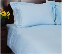 Cotton 100% cotton solid color light blue square grid jacquard bedding duvet cover quilt 220* 240cm