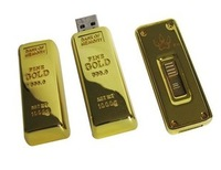 Personalized gift usb flash drive gold bars usb flash drive honorable 4g logo with the retail box