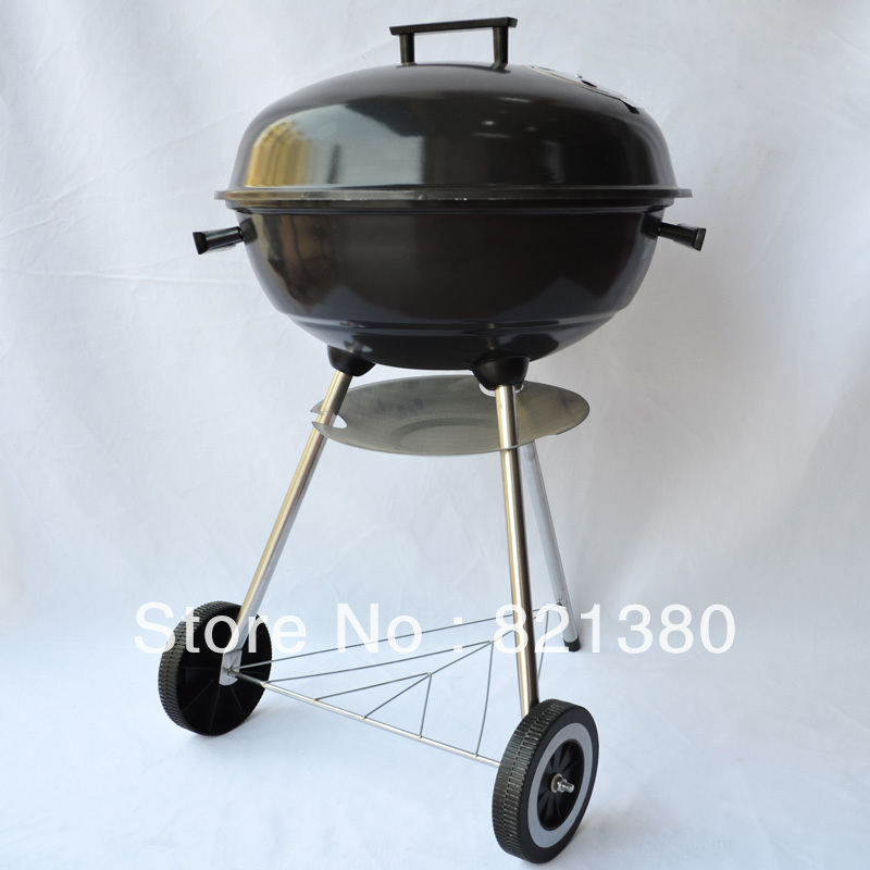 "2pcs/lot DHL free shipping 18"" black color Enamel Barbecue Stove party charcoal bbq stove bbq grill(China (Mainland))"