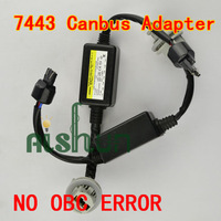 T20 7443 LED Resistor Cable Canbus Function Wire, 7443 LED Decoder Warning Flashing Canceller Adapter For European Car Lights