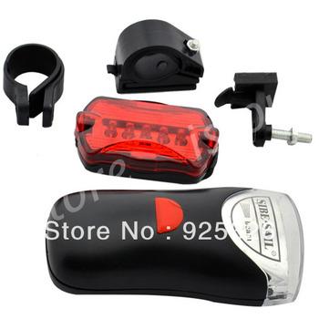 3Set/lot  New 2 IN 1 Waterproof  Rear Bike Light Mount Bracket Bicycle Lamp Front Light 4 LED Lamp 5 Flash LED  TK0607