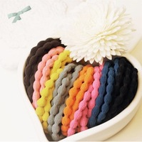 2013 new GuGu lotus root section rubber band hair ring, women fashion decoration Hair Band, color, mixed $ 10 free shipping