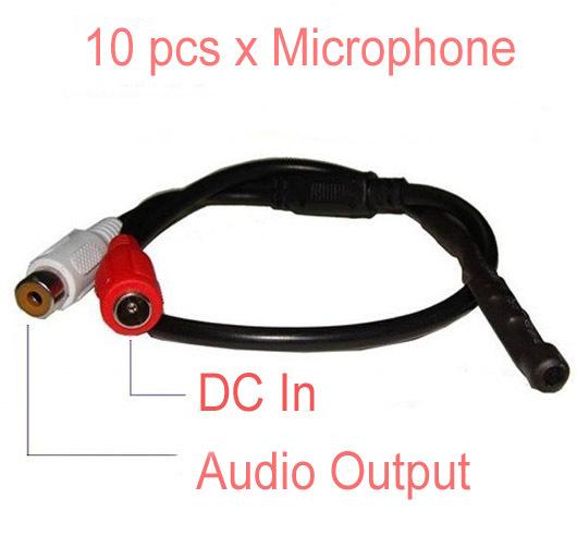 Mic CCTV Security Cameras Mini Microphone DVR 10pcs(China (Mainland))