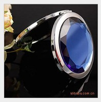 Free shipping    Lovely double folding portable fashion and personality high-grade crystal face makeup mirror