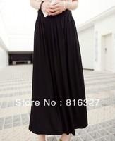 7 Colors 2013 spring and summer fashion modal skirt high waist skirt pleated skirt best selling skirt
