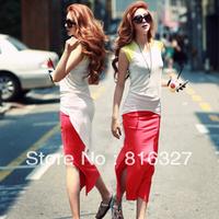 2013 Red,Black,Grey summer Fashion lady Long Skirt slim full skirts feet length a line high waisted hip women skirts
