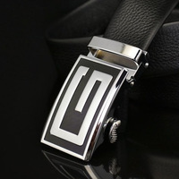 100% black leather belt to give the best gift for men