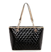 New chain collision color portable handbags