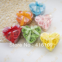 Creative fashion wedding  wedding supplies wedding  boutique  heart-shaped six pcs/ pack soap flower