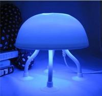 Free shipping 18pc/lot Bedside lamp night light innovation night of jellyfish lamp led mushroom lamp luminous lamps dual color