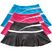 plus size 100% cotton tennis ball dress short skirt badminton skirt tennis ball culottes sports  pants skirt female sportswear