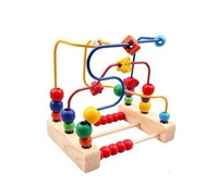 wood toy Roller coaster toy slide around the bead toy wooden  toy 1 - 3 years old