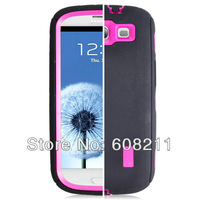 DHL Free Shipping New arrival Plastic Hard Rugged Plain  Case For SAM i9300 S3