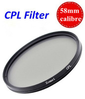 Free Shipping 58mm Circular Polarizing CPL C-PL Filter Lens 58mm For Canon Olympus Nikon Sony Camera