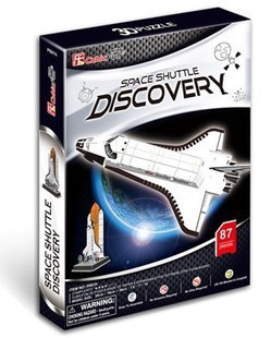 Freeshipping! Space Shuttle Discovery Cubic Fun 3D Jigsaw Puzzle,3D paper model,DIY puzzle, Educational toys(China (Mainland))
