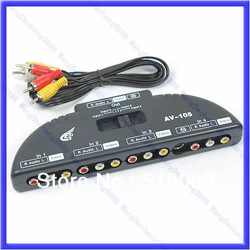 Free Shipping AV Audio Video Signal Switcher 4 Input 1 Output Switch(China (Mainland))