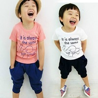 5 set/lot  2013 Promotion Children Kids Clothing Boys Summer Wear Sports Suits HOT Selling AA5585
