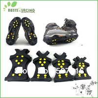 free shipping hot selling 1pairs Snow Grips Ice Grips Anti Slip Snow Shoes Crampons Cleats S/M/L/XL Size