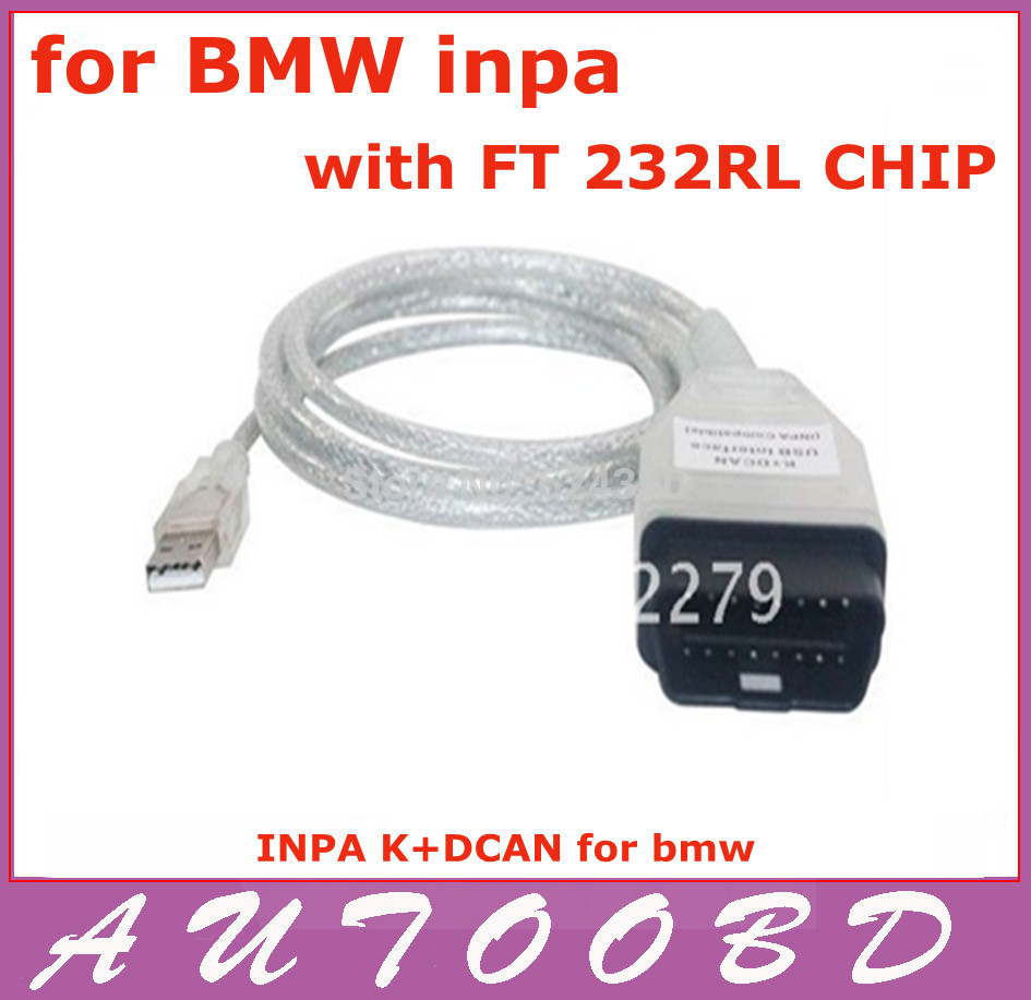 lowest price+Free Shipping! For BMW INPA K CAN inpa k dcan USB OBD2 Interface INPA Ediabas for BMW(China (Mainland))