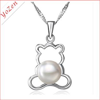 winnie shape  freshwater pearl japanese quantum pendant