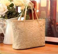WHOLESALE!!!!2013 all-match lace bag crochet women's handbag small fresh big bag handbag fashion shoulder bag free shipping