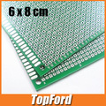 Free shipping 50pcs/lot  6*8 Double side Breadboard Bread Board Prototype 6x8cm Highly quality test board #IB012