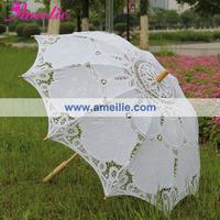 1pc/lot Free shipping Embroidery Battenburg Bridal Umbrella Lace Parasols