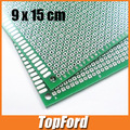 Free shipping 20pcs/lot  9*15 Double side Breadboard Bread Board Prototype 9x15cm  Highly quality #IB011