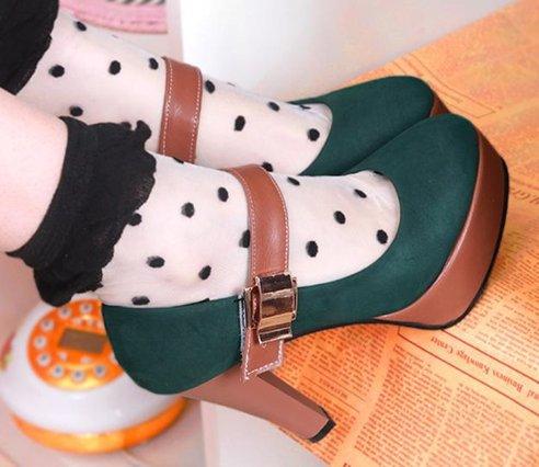 Free shipping high heel shoes platform women sexy dress footwear fashion pumps P4879 hot sale EUR size 34-39(China (Mainland))