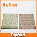 Free shipping  50pcs/lot 6x6 cm PROTOTYPE PCB 6*6 panel Universal Board test board #IB010