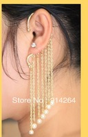 Wholesale 12Pcs Lovely New Fashion Prom long chain Retro Punk Ear hook Earrings   free shipping