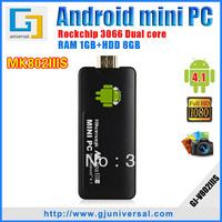 Rikomagic MK802IIIS TV Box Adroid Mini PC Bluetooth Remote Control Dual Core RK3066 A9 1GB RAM 8G ROM DHL EMS Freeshipping