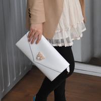 Free shipping 2013 tiger head patent leather envelope bag day clutch fashion handbag  women's shoulder bag lady's clutch bag