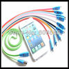 Sample testing smile face lighting Micro USB Cable 2.0 Data sync Charger cable line for smart mobile phone mp3 mp4 player(China (Mainland))