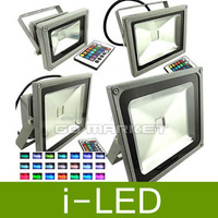 FedEx Shipping Outdoor Waterproof AC85-265V10W 20W 30W 50W 70W RGB Color Changing LED Flood Light With Remote Controller