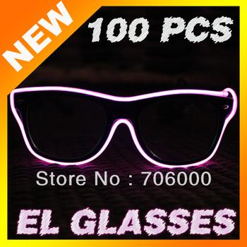 Free shipping EL light-emitting glasses, nickname: EL cold light glasses EL luminous glasses the fashion toy Party glasses