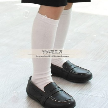 White knee-high socks child knee-high socks white football socks child football socks