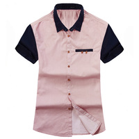 2013 New Arrival Men Short Sleeve Shirt Fashion Men Style Turn-Down Collor Dress Shirt free shipping  MCS023