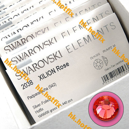 GENUINE Swarovski Elements ss8 Padparadscha ( 542 ) 720 pcs. Iron on 8ss Craft Hot-fix Flatback Crystal 2038 Hotfix rhinestones