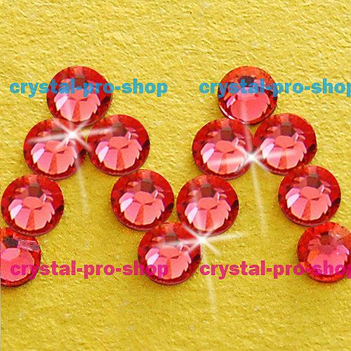 GENUINE Swarovski Elements ss8 Padparadscha ( 542 ) 720 pcs. Iron on 8ss Craft Hot-fix Flatback Crystal 2038 Hotfix rhinestones