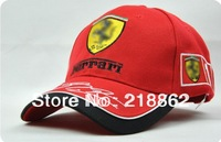 Retail men/women red baseball cap,bSummer car team hat lack/red/blue motorcycle party f1 racing cap free shipping