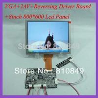 VGA+2AV+Revering driver board KYV-N2 V1+8inch 800*600 lcd panel EJ080NA-05B