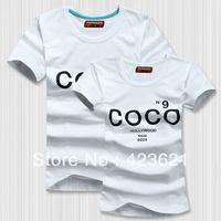 New Style+High Quality Cotton+COCO Couple T-shirt 2pcs/pair T-Shirt Women/Men/Lover/Couple