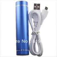 Hot Sale Blue Column 2600mAh Portable USB External Mobile Power Bank Battery for Mobile Phone 750086