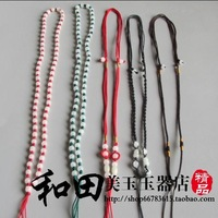 FREE SHIPPING! Exquisite jade carving jewelry lanyard beads lanyard jade rope diy accessories