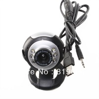 New 50.0 Mega Pixels 6 LED USB 2.0 Video Camera Webcam With Skype PC Mic Free Shipping 740066
