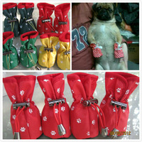 FREE SHIPPING! Pug tobago rain boots pet shoes brief practical type anti-slip soles dog boots 4