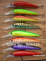 High quality 8PCS Fishing Lure Mimmow Treble Hook Spinner baits 40g 18cm