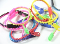 New wholesale cheap mix color in Europe and America zipper bracelet, 20pcs/lot free shipping